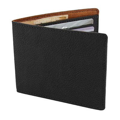 Código W 750 -CARTERA NANSA- Organizador de tarjetas y credenciales. Compartimento para billetes. Material:Curpiel / Forro Textil. Tamaño: 11 x 8.6 cm.