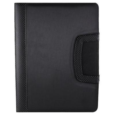 Código  M 80920 N    .    CARPETA PORTA TABLET LORY (Incluye block de raya tamaño A4 con 20 hojas, compartimentos  documentos y tarjetas, asas, soporte y base para tablet. Material: Curpiel  Tamaño: 23.5 x 31.5 cm.