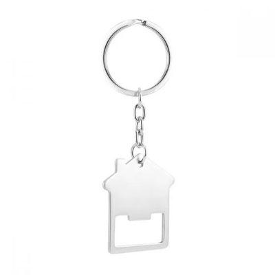 Código  DPO 028  LLAVERO DESTAPADOR   Material:  Metal. -  Tamaño: 3.8 x 4.8 cm