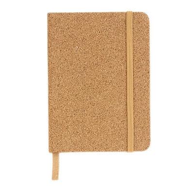 Código  HL 080   Libreta -  80 Hojas de raya. Incluye separador de hojas y elástico    Material: Corcho  - Tamaño: 10 x  14 cm