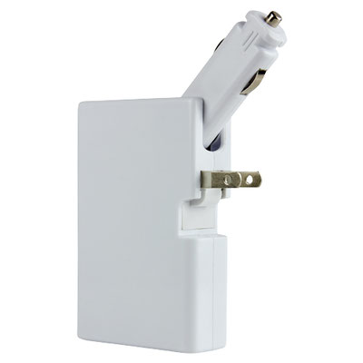 Código CRG 020 POWER BANK KENAI (Bateria auxiliar para smartphone, capacidad 5000 mAh y doble puerto USB. Cuenta con clavija para conectarse a un enchufe de pared y conector para cargador de carro. Material: Plástico. Tamaño:  6.4 x 9.8 cm.