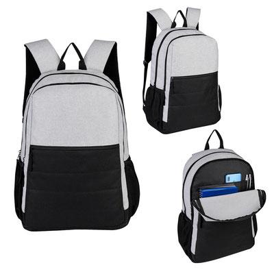 Código  SIN 355  MOCHILA  DENVER   Bolsa principal con espacio para laptop y tablet, bolsa con organizador, bolsa frontal con cierre, 2 bolsas laterales de red, espalda y tirantes acojinados. Material:  Poliéster  Tamaño:  32 x 49 x 12 cm