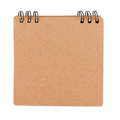 Código  HL  130   Libreta - 40 Hojas de raya. Contiene 5 tiras de notas adheribles. Espiral metálico doble.  Material: Cartón / Espiral Metálico  - Tamaño: 9.8 x  9.8 cm