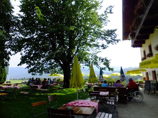 Biergarten beim Gasthof Mayerhofen