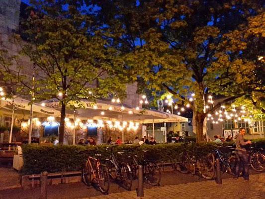 Biergarten in Erlangen/ Deutschland.