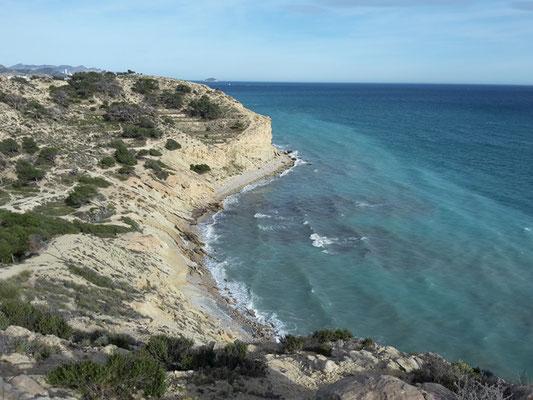 Spaniens Küste.