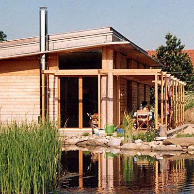 ökoloigsches Niedrigenergie Holzhaus