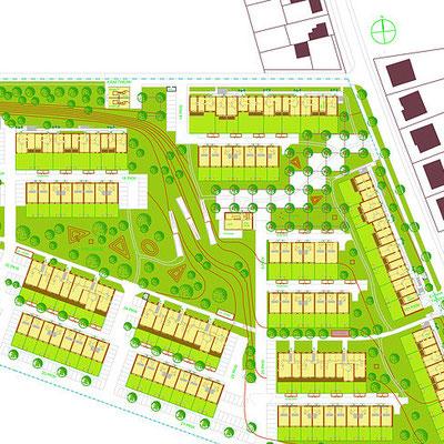 Ökologische Passivhaus Siedlung