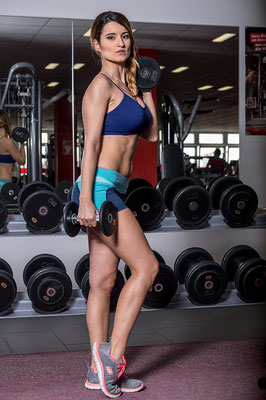 Fitness Shooting, Model: Agnes Dimaggio, Visa: Maria Martin de Blas, mit freundlicher Genehmigung Clever Fit Weimar