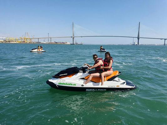 ruta en moto acuática Cádiz
