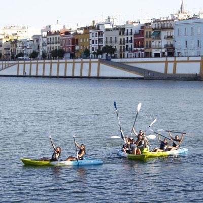 alquiler de kayak para grupos en El Puerto de Santa María