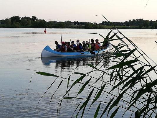 Kanu-Tour NABU Geesthacht, Juni 2021, @ Elfi Minge