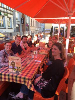 Abendessen mit den holländischen Freunden von den Eemsroben aus Delfzijl