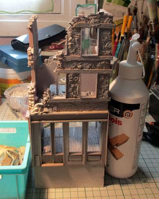 1944-1945..charpente, façade, café...la suite.... Image