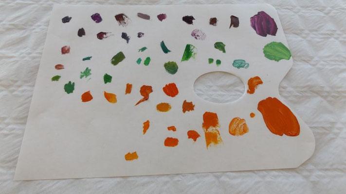 essais de création de couleurs