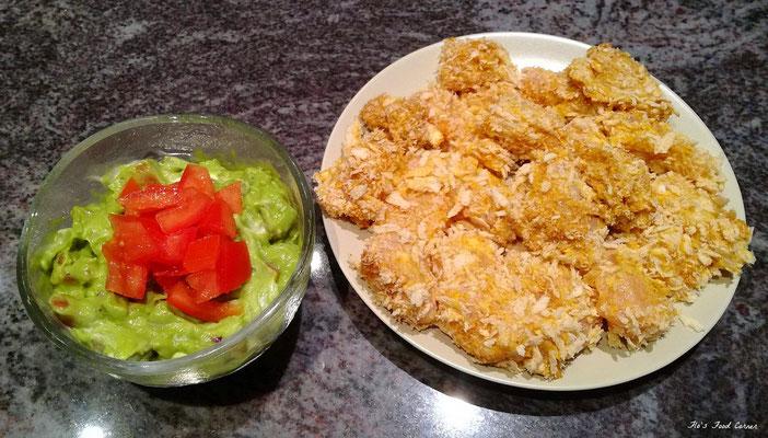wrap met guacamole en crunchy chicken