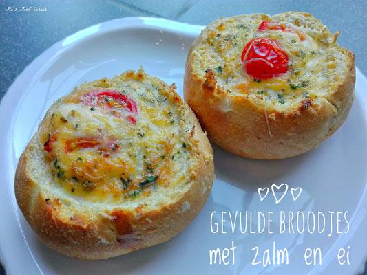 gevulde broodjes met zalm en ei