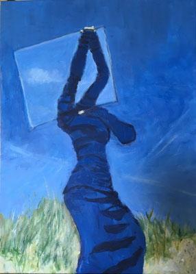 UnSicht - Acryl auf Leinwand 50 x 70 cm, 2020 | Blanka von Rohr | Malerei | Hamburg