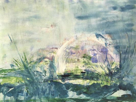 TRANSFORMATION - Acryl auf Pappe 70 x 50 cm, 2018 | Blanka von Rohr | Malerei | Hamburg