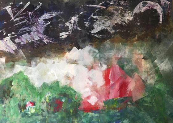 VIELSCHICHT - Acryl auf Pappe, 70 x 50 cm, 2019 | Blanka von Rohr | Malerei | Hamburg