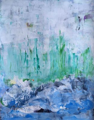 WACHSTUM - Acryl auf Pappe, 50 x 70 cm, 2018 | Blanka von Rohr | Malerei | Hamburg