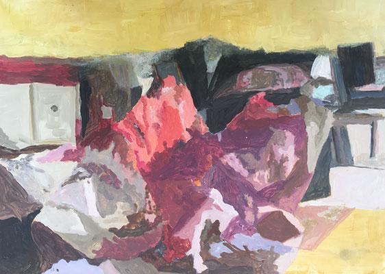 IM VERBORGENEN - Acryl auf Papier, 59 x 43 cm, 2019 | Blanka von Rohr | Malerei | Hamburg