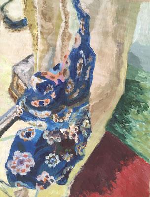 VERSCHLUNGEN  Acryl auf Papier, 30 x 45 cm, 2019 | Blanka von Rohr | Malerei | Hamburg
