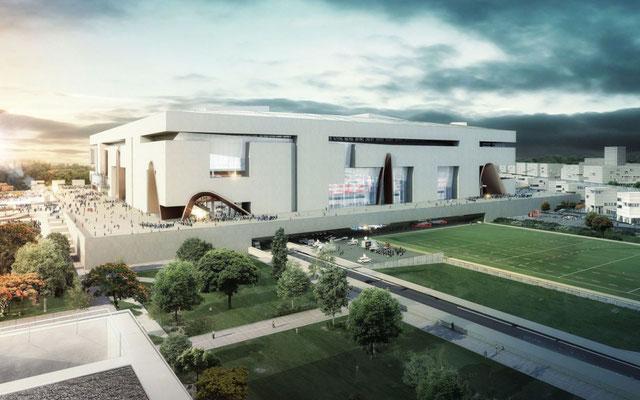 Grand Stade de Rugby / Ris Orangis / © Populous + © Ateliers 2/3/4