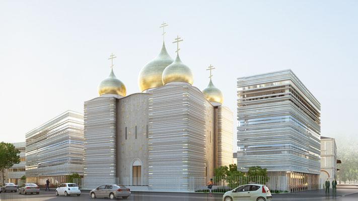 Centre Spirituel et Culturel Orthodoxe Russe / Paris 7ème / © Wilmotte & Associés