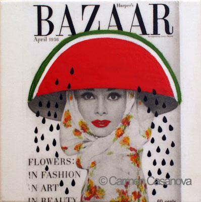 AUDREY HARPER´S BAZAAR 20x20 cm.  Mixta-lienzo   € 300