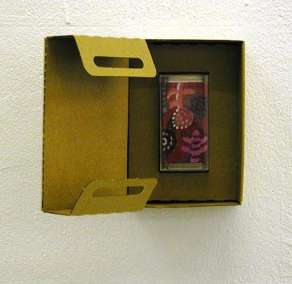 Box, 2006, karton, paint, signed