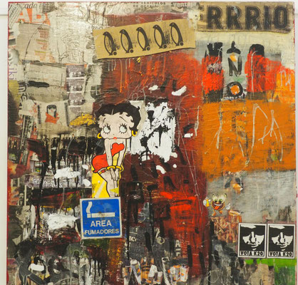 AREA DE FUMADORES     100x100 cm     mixta-tabla     2012      3.000€