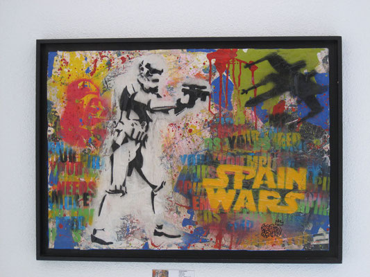 SPAIN WARS I    46x65 cm    mixta-tabla   2016     1.500 €