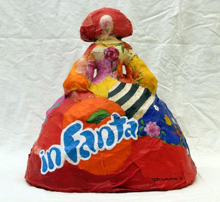 INFANTA POP Acrílico y tela sobre espuma de poliuretano  28 cm de altura  €600