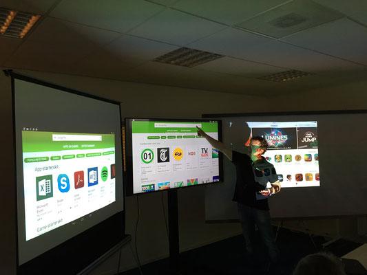 Drie schermen tegelijk