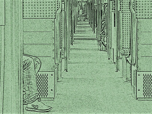 In der S-Bahn (Michael Steinborn)