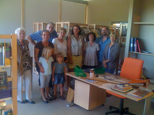 L'équipe de bénévoles qui animent la bibliothèque