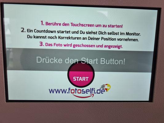 Touch Display Fotobox Selfi