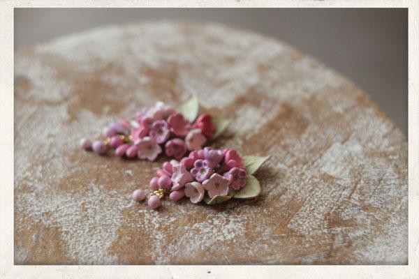 Цветочная гроздь. Розово-сиреневая. 1300р