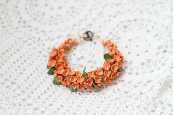 """браслет """"Нежно-оранжевый"""" 1700р"""