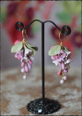 Цветочная гроздь. Розово-сиреневая. 1500р