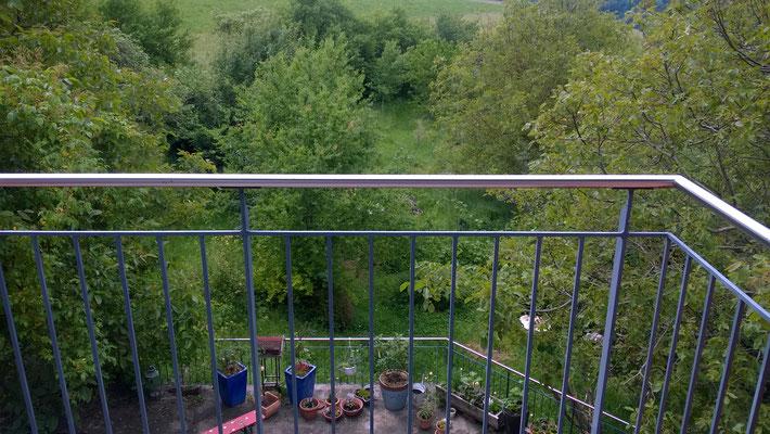 Blick vom Balkon Doppelzimmer (außerhalb der Fewo)