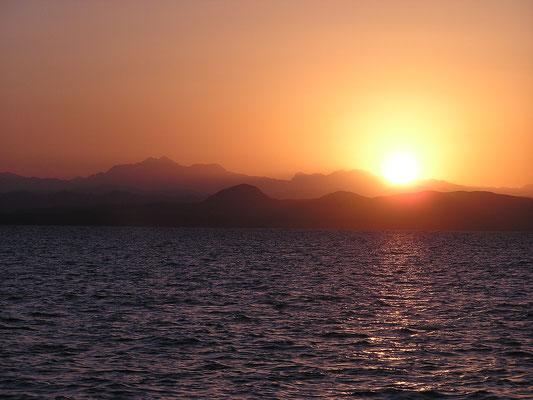 Sonnenuntergang im Roten Meer - Sudan