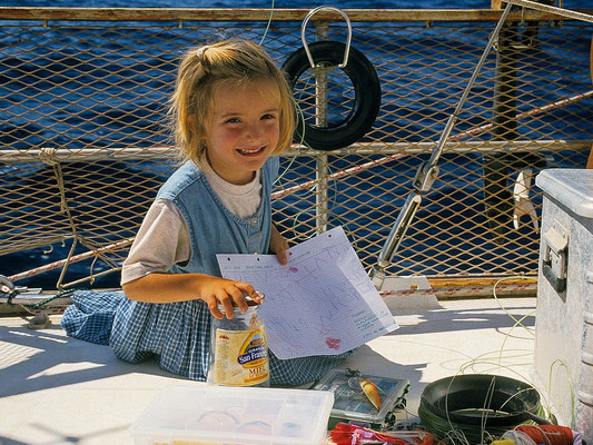 Anna schreibt eine Flaschenpost - Atlantik