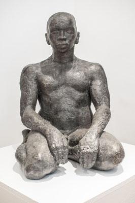 Nubabuddha, 1995, Steinguss, 38cm x 46cm x 62cm