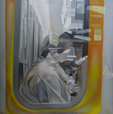 Tatoo, 2009, Acryl auf Leinwand, 150cm x 150cm