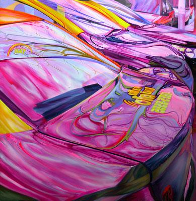 Race, 2015, Acryl auf Leinwand, 120cm x 120cm