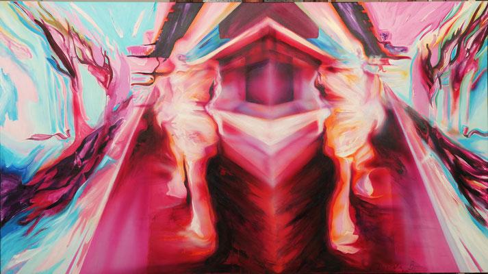 Double Motion III, 2010, Acryl auf Leinwand, 250cm x 140cm