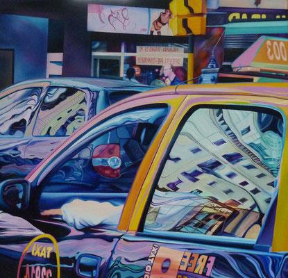 Taxi, 2008, Acryl auf Leinwand, 130cm x 130cm