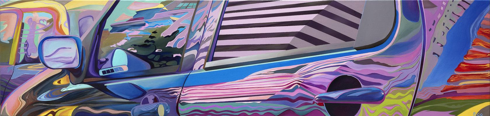 Love Persecution, 2010, Acryl auf Leinwand, 217cm x 52cm